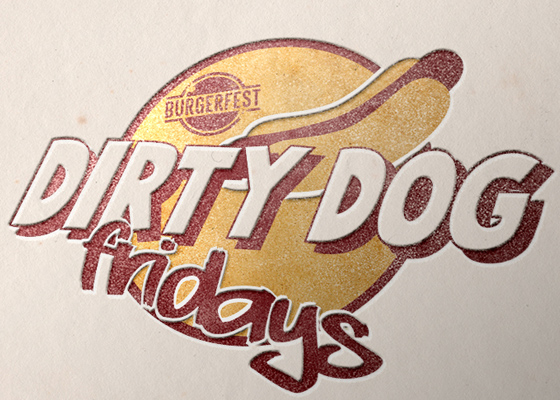 Burgerfest 'Dirty Dog' Branding
