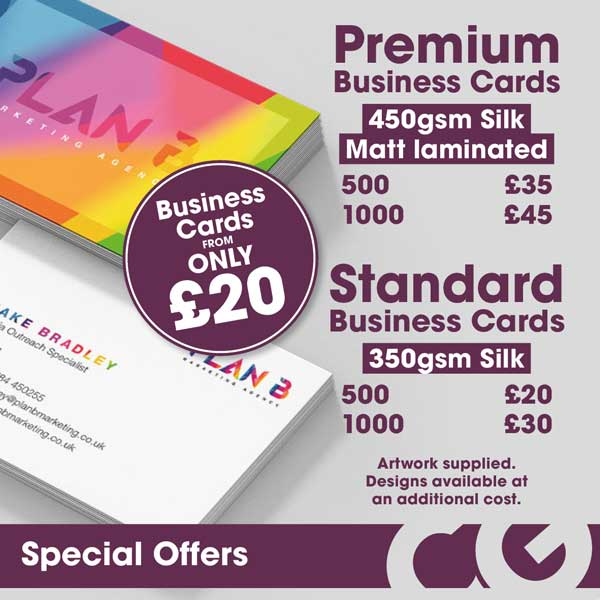 January offer of business cards