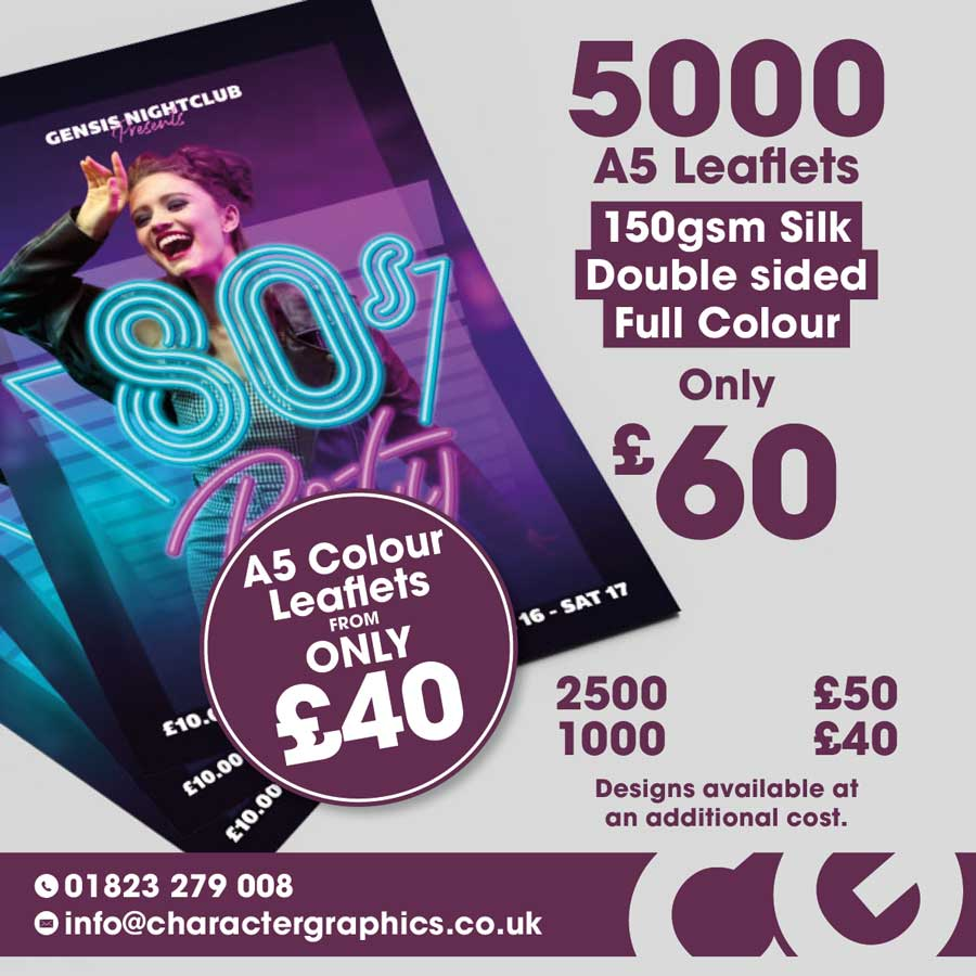 Monthly offer of printed leaflets