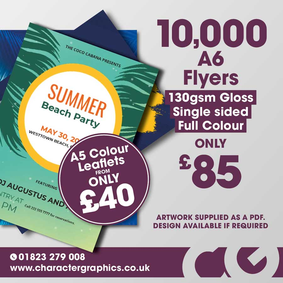 10000 leaflets for £85